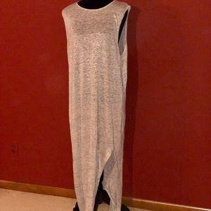 T by Alexander Wang Linen Tee Maxi Dress